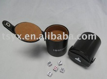Dice cup with lid