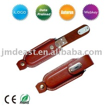 Promotion leather flash drive hot sale/usb flash memory stick