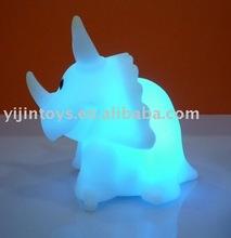 Wholesales Vinyl animal Led toy;Plastic dinosaur Led toy