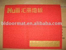 PVC logo mat, promotional logo mat