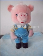 electronic plush pig toy