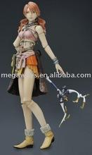 girl resin action figurine for souvenir