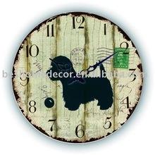Antique wall mounted clock,rohs clocks,wall glass clock
