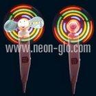 Funny Children Toy 32-Pattern Flashing Cute-piggy Fan w/Pen