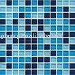 Crystal Glass Mosaic Blue colors Swimming Pool Wall Tile 25x25x4mm M4CB321