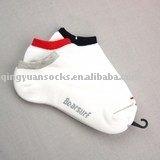White Jacquard Cotton Terry Socks
