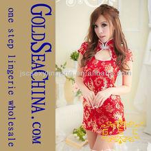 Di alta qualità rosso sexy kimono cinese& cheongsam vestito