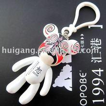 art toy peking opera character painted key chain