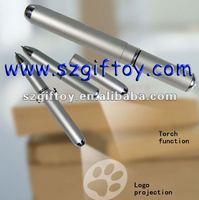 led ink pens metal projected pen