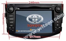 WITSON Double din car dvd player toyota RAV4 with gps navigation