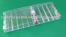 500ct Clear Poker Chip tray with lid casino chip tray