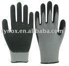Crinkle latex palm coated 13 gauge nylon glove