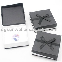 Dongguan factory hot sales Fancy Square Pendant paper jewelry gift box
