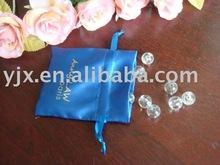 printing satin drawstring bag in packing