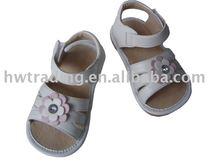 lovely flower baby squeaker shoe horn sole