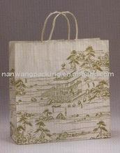 Eco-friendly kraft paper bag for clothing