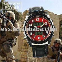 MR010 military royale analog digital multi-function sport leather wrist watch