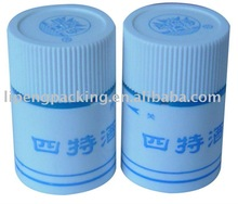 Plastic bottle lids with pull-ring