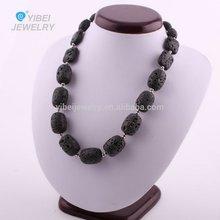 fashion pure Hand-beaded lava necklaces /lava jewelry