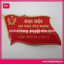 cheap wholesale name badge flag,nice rotary chrome badge