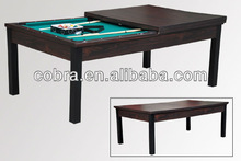 7 feet billiard table&dinner pool table combo&functional game table with metal legs