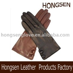 HS001 ladies short leather gloves