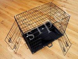 """36"""" Dog Cage, Black Finish"""