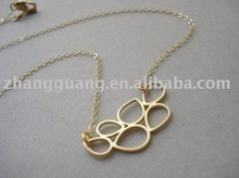 Fashion womengold plated necklace