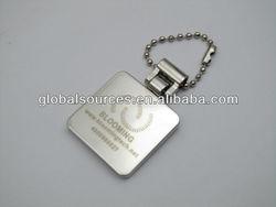 Promotion Square Key Ring Metal Key Fobs
