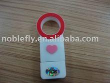 promotional gift plastic heart shape usb stick