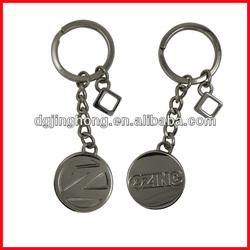 "Engraving logo ""Z Zinc"" keychain, double side logo"