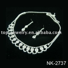 2015 Fashion Costume Jewelry Set,Elegant Dubai White Gold Jewelry Set / Wedding Jewellery Designs