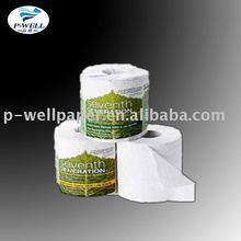 400 hojas / rollo higiénico en relieve rollos y tejidos