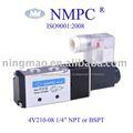 """4v210 - 08 eléctrico de la válvula solenoide/de aire, de gas/1/4"""" npt o pt/12v, 24v dc o 110v, 220v ca"""