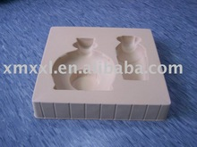 plastic tray with flocking for cosmetics