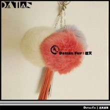 100% Genuine Rabbit Fur Ball Key Chain
