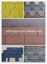 colourful asphalt shingle