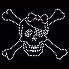 beautiful Skull & Crossbones rhinestone transfers design