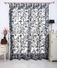 Flocking shower curtain