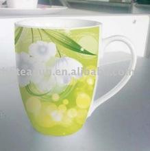 10oz Beautiful Flower Design Ceramic Mugs 6H6057