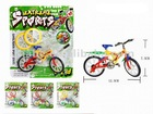 DIY finger mini bicycle 4colors, plastic promotional toys,vehicle,assembly educational toys