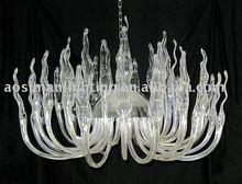 Halogen G9 light clear glass chandelier