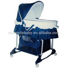 cradle baby wicker bassinet, baby bassinet with adjustable canopy, baby cradle bassinet with braking wheels