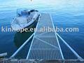 hdg de acero marco de barco flotante marina con rejilla de acero cubiertas de acero
