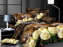 100% cotton reactive printing bedding sheet set