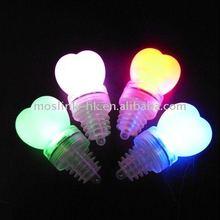 LED Light Up Bottle Stoppers-Heart shape bottle caps with CR-2032 battery