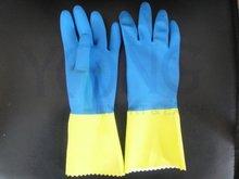Bicolor Latex Household Glove