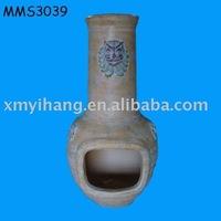 Indoor mini terracotta chiminea