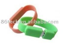 hot selling bracelet USB Flash Drive, wristband USB flash drive, wrist USB flash drive