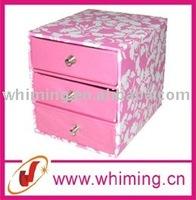 custom design mini mirror paper jewellery boxes wholesale